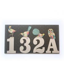 New Zealand Bird House Numbers